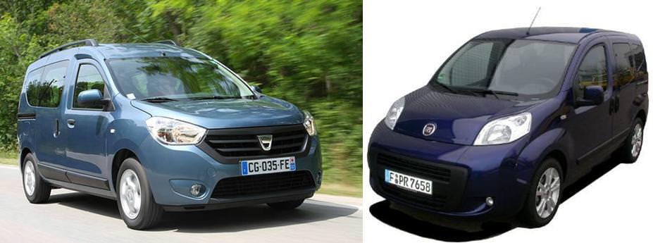 Primul test comparativ Dacia Dokker vs Fiat Qubo 2013