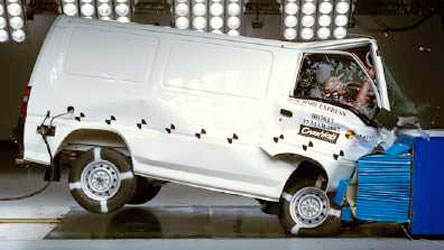 mitsubishi express van delica l300 off road crash test 2013 (6)