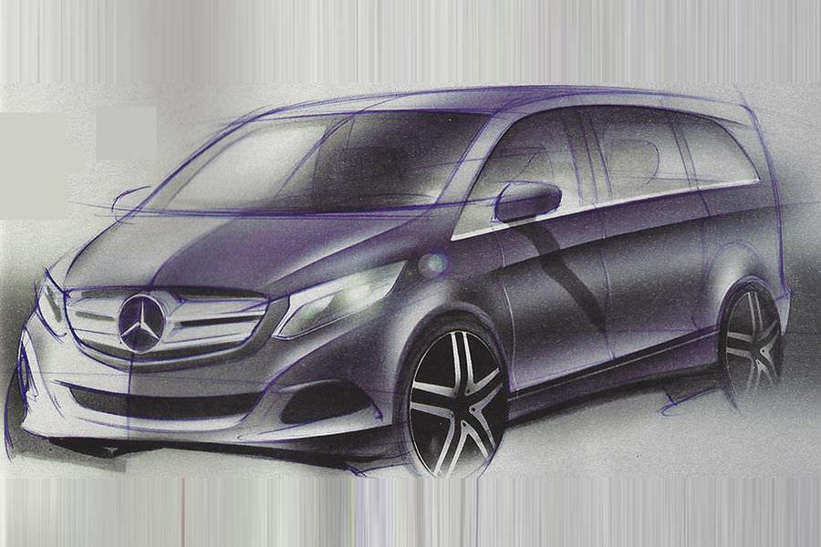First look at the new Mercedes V-Class/Vito 2014 with 1.6 dCI Renault engine