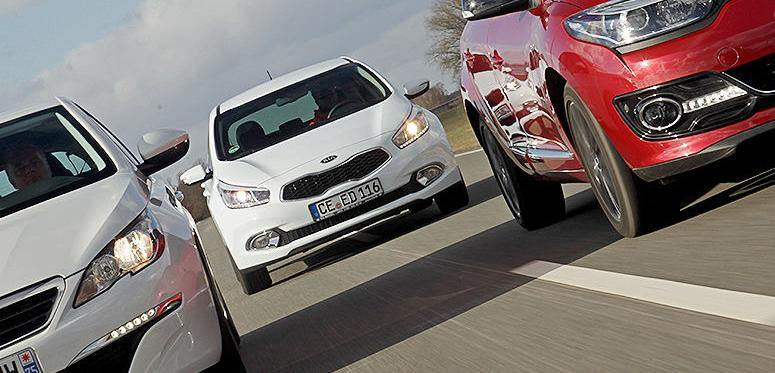 Fata in fata: KIA Ceed vs Peugeot 308 si Renault Megane Collection 2014