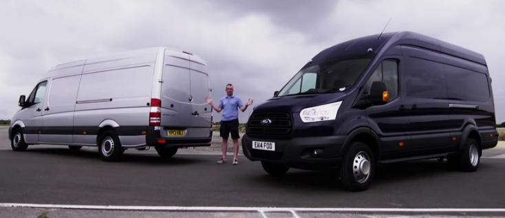 Test Comparativ noul Ford Transit vs Mercedes Sprinter facelift 2014