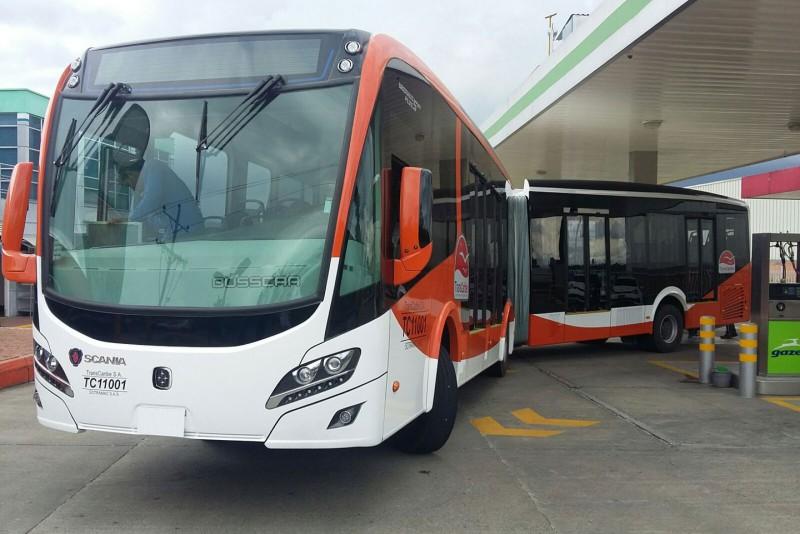 Scania a inceput sa comercializeze primele autobuze pe GPL in America de Sud