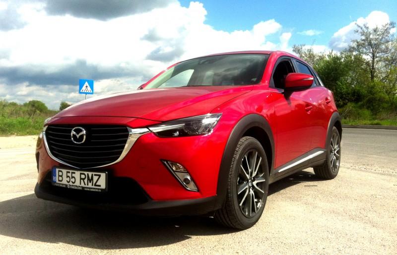 Test drive cu noua Mazda CX-3 echipat cu motorizarea 2.0 cmc Skyactiv de 150 CP Euro 6