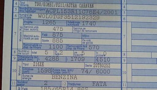 Unde gasesc scrisa norma de poluare a masinii mele? Norma Euro in talon, CIV Cartea de Identitate RAR