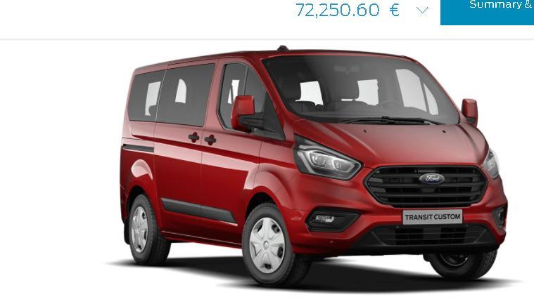 Noul Ford Transit Custom Plug-in hybrid (PHEV) 1.0 Ecoboost ajunge sa coste peste 70.000 euro